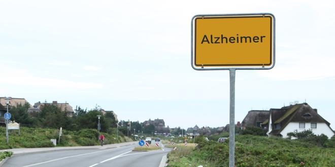 Straßenschild Alzheimer